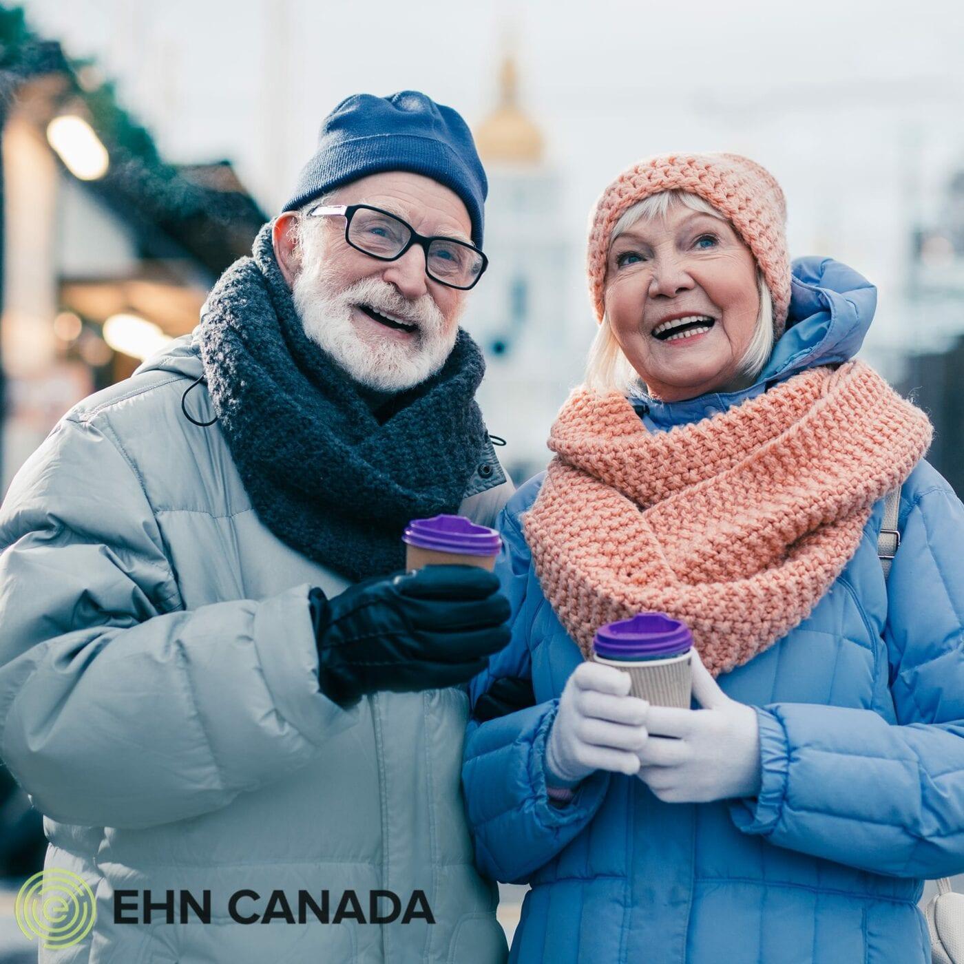 Holiday blog elderly couple mugs