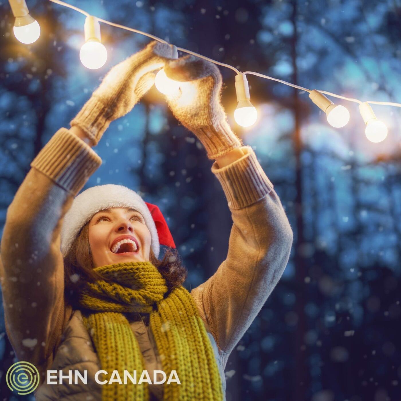 Holiday blog festive woman light