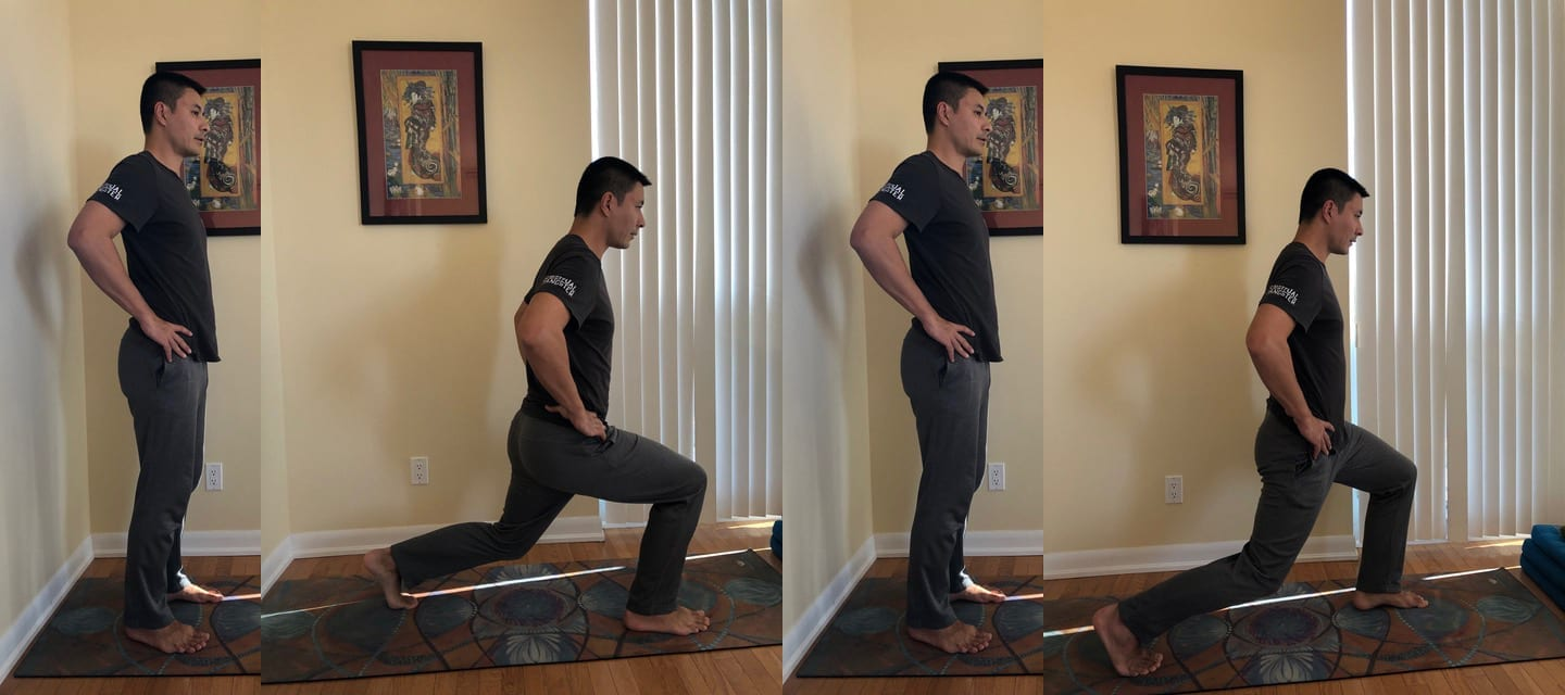 home workout exercises lunges