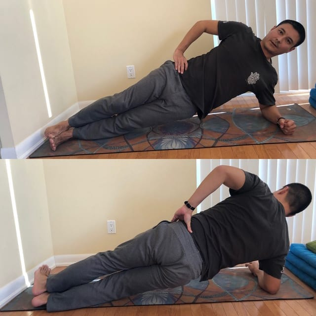 home workout exercises side plank