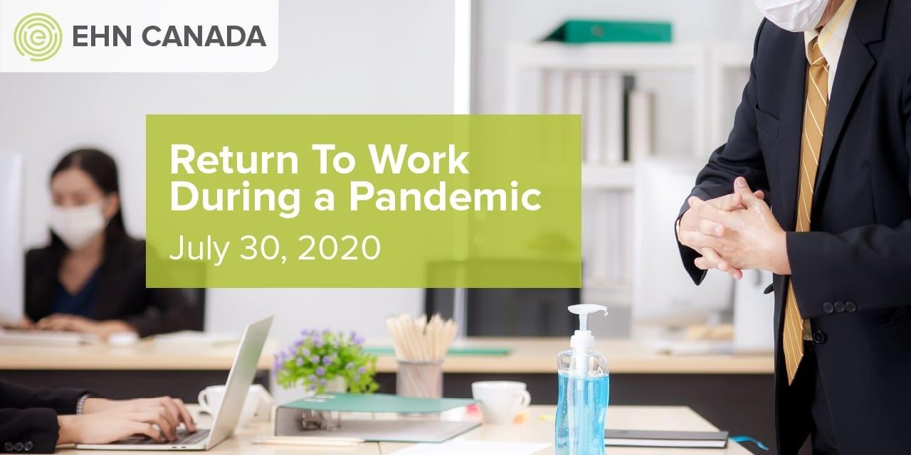 Return to Work Webinar July 30