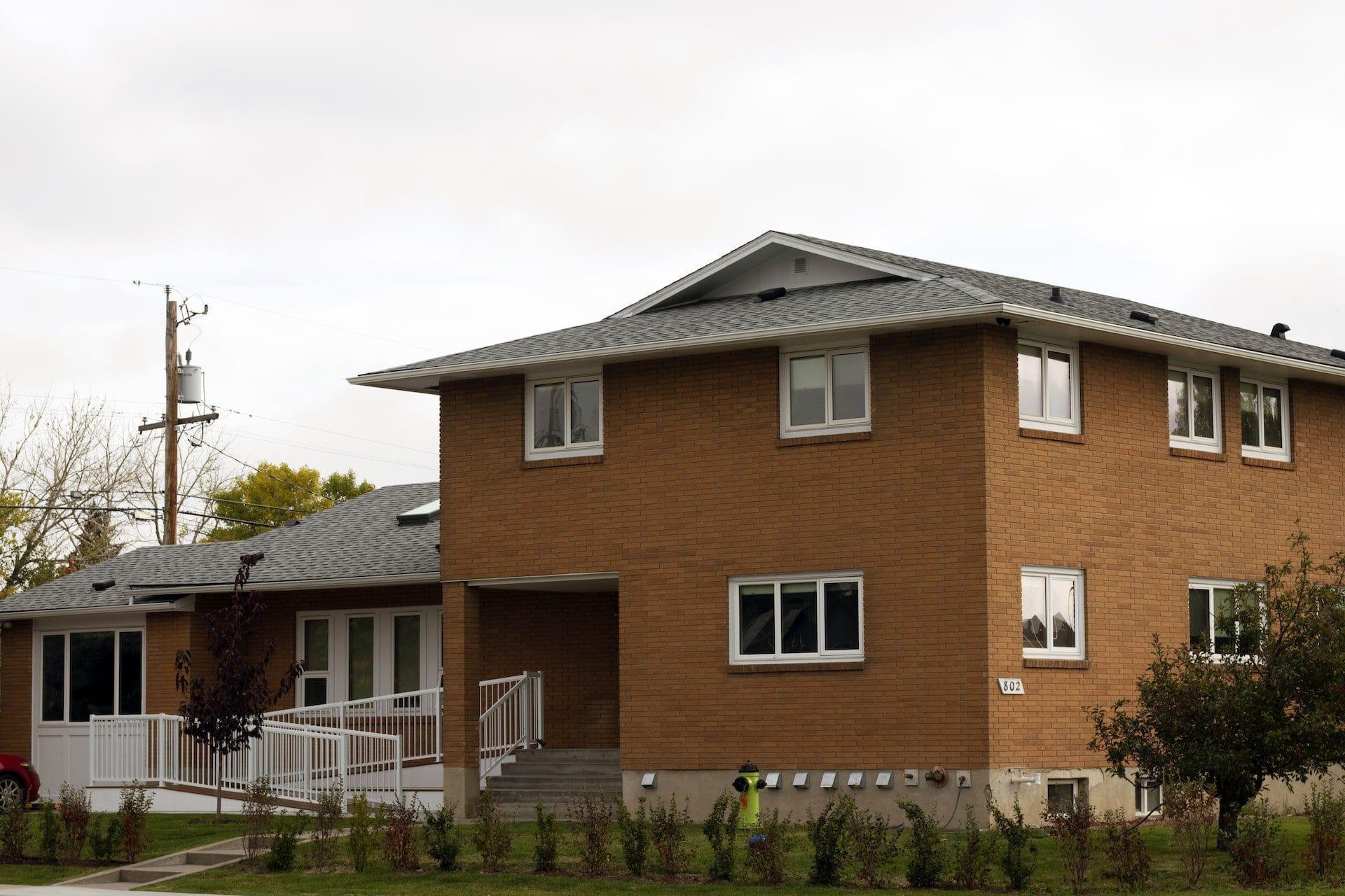 Sandstone building front