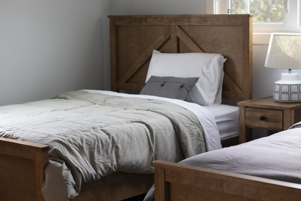 Bed in room at Sandstone
